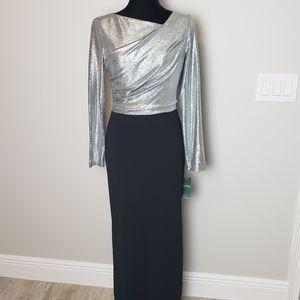 NWT Ralph Lauren Long Sleeve Maxi Gown Dress